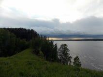 Tempestade sobre o Rio Volga Imagem de Stock Royalty Free