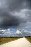 Tempestade sobre os marismas fotos de stock royalty free