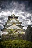 Tempestade sobre Osaka Castle Fotografia de Stock Royalty Free