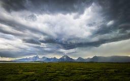 Tempestade sobre Tetons_3 Imagens de Stock Royalty Free