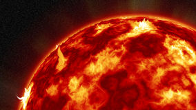 Tempestade solar Fotografia de Stock