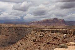 Tempestades de truenos en el parque de estado de los cuellos de cisne, Utah Fotografía de archivo libre de regalías