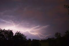 Tempestades e relâmpago Foto de Stock