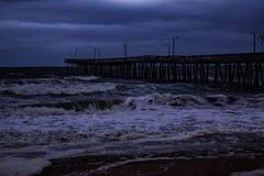 Tempestades no cais Imagens de Stock