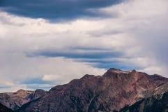 Tempeste di Rocky Mountain Summits Clouds Brings Manson Colorado Fotografia Stock