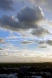 Tempeste di sera sopra Caloundra Immagine Stock
