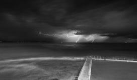 Tempeste e fulmine di Collaroy Fotografia Stock