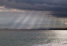 Tempeste sul mare nel litorale francese del sud Fotografia Stock Libera da Diritti