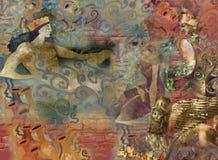 Tempi antichi del aboat di fantasia immagini stock