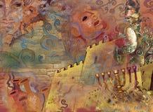 Tempi antichi del aboat di fantasia fotografia stock
