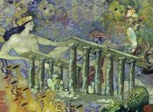 Tempi antichi del aboat di fantasia immagini stock libere da diritti
