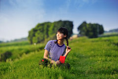 Tempi della Cina Maos, una ragazza è diventato guardie rosse Fotografia Stock Libera da Diritti