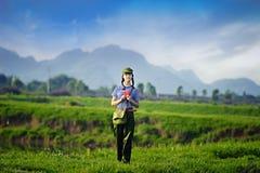 Tempi della Cina Maos, una ragazza è diventato guardie rosse Fotografie Stock