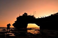 Tempiale al tramonto - Bali di Thanalot Immagini Stock Libere da Diritti