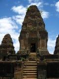 Tempiale in Angkor Wat Fotografia Stock Libera da Diritti
