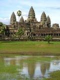 Tempiale in Angkor Wat Fotografie Stock