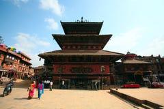 Tempiale antico, Bhaktapur, Nepal Fotografie Stock Libere da Diritti