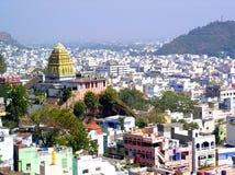 Tempiale antico in città indiana Fotografia Stock Libera da Diritti
