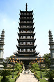 Tempiale antico dello Zhen gu, torretta Cina fotografie stock