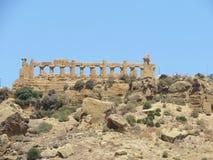 Tempiale antico di Agrigento Fotografie Stock Libere da Diritti