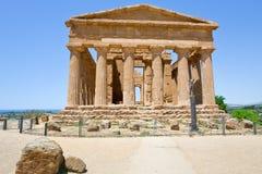 Tempiale antico di Concordia Fotografie Stock
