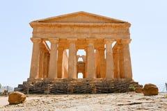 Tempiale antico di Concordia Fotografia Stock Libera da Diritti
