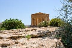 Tempiale antico di Concordia Immagine Stock Libera da Diritti