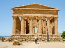 Tempiale antico di Concordia Immagine Stock