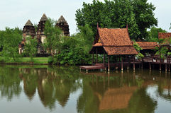 Tempiale antico di khmer Immagine Stock
