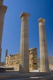 Tempiale antico di Lindos Fotografie Stock Libere da Diritti