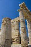Tempiale antico di Lindos Immagine Stock