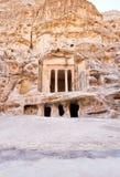 Tempiale antico di Nabatean in poco PETRA Fotografie Stock Libere da Diritti