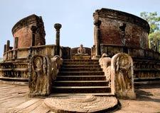 Tempiale antico di Polonnaruwa Fotografia Stock