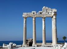 Tempiale antico FO Apollo sul mare di Mediterranien fotografia stock libera da diritti
