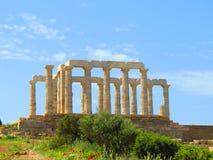 Tempiale a Atene Fotografia Stock Libera da Diritti