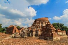 Tempiale in Ayutthaya Fotografia Stock Libera da Diritti