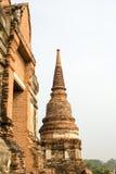 Tempiale, Ayutthaya, Tailandia Fotografie Stock