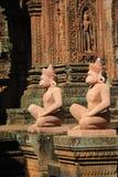 Tempiale Banteay Srey di Angkor Fotografia Stock