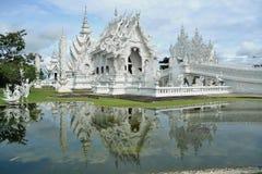 Tempiale bianco, khun del rong del wat, Chiang Rai Fotografie Stock