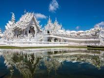 Tempiale bianco, khun del rong del wat, Chiang Rai Fotografie Stock Libere da Diritti