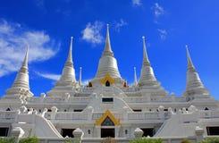 Tempiale bianco in Tailandia Immagini Stock