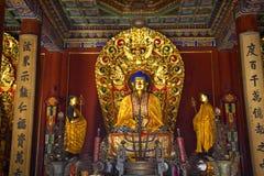 Tempiale blu Pechino del gong di Yonghe dell'altare del Buddha Fotografie Stock
