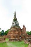 Tempiale buddista in Ayutthaya Immagine Stock Libera da Diritti
