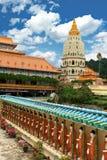 Tempiale buddista di Kek Lok Si immagini stock libere da diritti