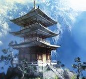 Tempiale buddista di zen illustrazione di stock