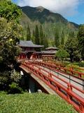 Tempiale buddista su Oahu Hawai, Kaneohe Immagine Stock Libera da Diritti