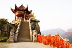 Tempiale cinese antico Fotografia Stock