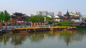 Tempiale cinese del Confucius della città di Newyear NanJing Immagine Stock
