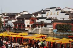 Tempiale cinese del Confucius della città di Newyear NanJing Fotografia Stock Libera da Diritti