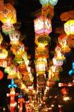 Tempiale cinese di nuovo anno 2011 giusto a chengdu Fotografia Stock Libera da Diritti